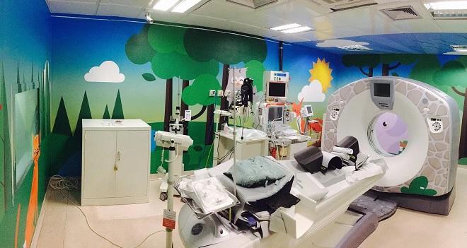 Salas Humanizadas reduzem uso de sedativos para tomografia em crianças