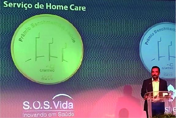 S.O.S. Vida vence Prêmio Benchmarking Saúde em home care