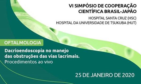 Hospital Santa Cruz promove Simpósio de Cooperação Científica Brasil-Japão