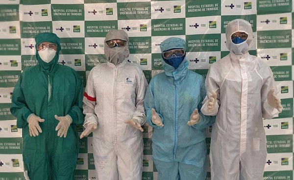 Hutrin recebe novos EPIs para equipe no atendimento a infectados