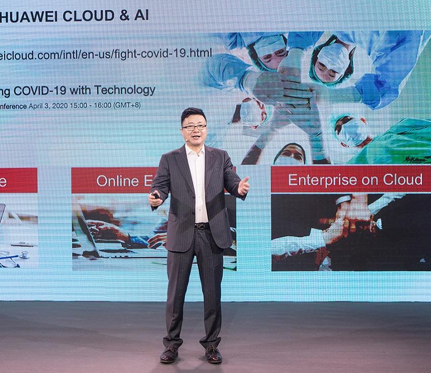 Deng Tao, presidente de mercados globais da HUAWEI CLOUD, lançou o plano de ação global (PRNewsfoto/HUAWEI CLOUD)