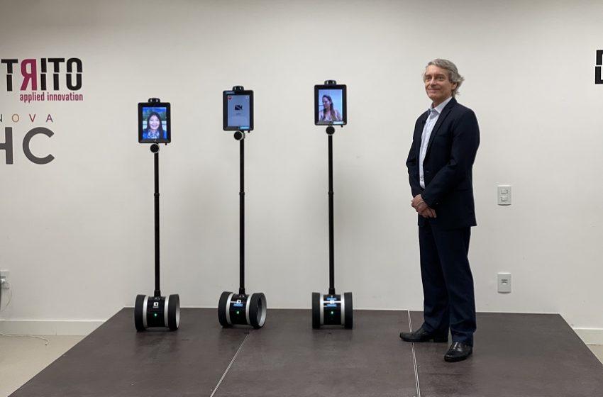 HC recebe 5 robôs de telepresença para atender pacientes com Covid
